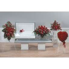 Red Carnation Flowers - Funeral Package