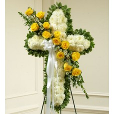 Holy Cross Funeral Flowers - Superb Standing Spray