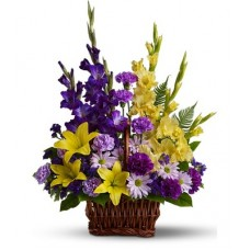 Colorful Condolences - Sympathy Flower Basket