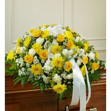 Colorful Condolences - Casket Flower Spray